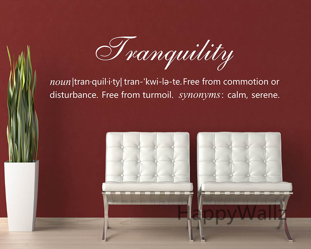 Tranquility definition quote wall sticker decorating diy for Decor definition