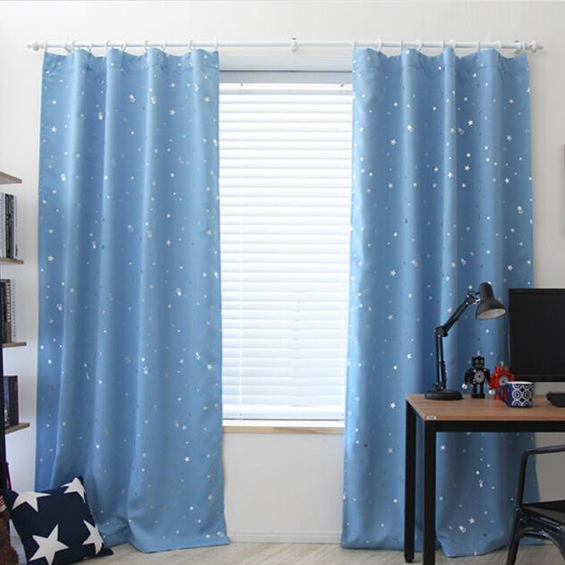 139cm x190cm luxury modern star kids child bedroom - Childrens bedroom blackout curtains ...