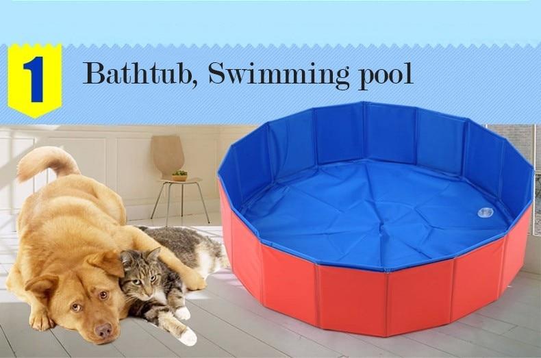 Vasca Da Bagno Per Cani Prezzi : Pet products grande pvc pieghevole piscina per cane grande vasca