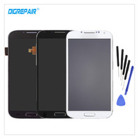 5 AAA Black White Blue For Samsung Galaxy S4 I9500 LCD Display Digitizer Touch Screen Assembly