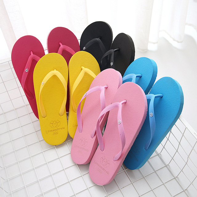 New Style Couple's Colorful Women Men Flip-Flops Female Fashion Home Slippers Summer Pinch Non-Slip Beach Lover Sandals
