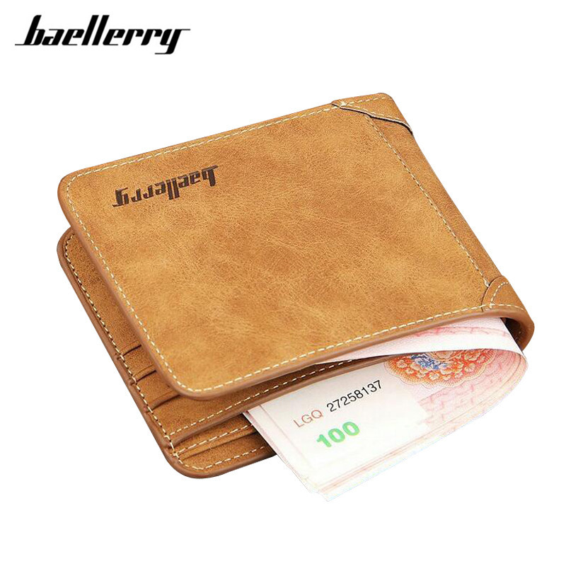 Baellerry 2017 men wallets famous brand mens wallet male money purses 2 fold Simple New Design Top Wallet for Man Card Holder hot sale leather men s wallets famous brand casual short purses male small wallets cash card holder high quality money bags 2017