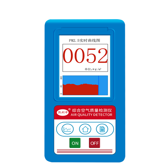 air quality tester PM2.5 Detector Particle Dust Air Quality Meter digital Air Analyzer whit Temperature humidity test tool