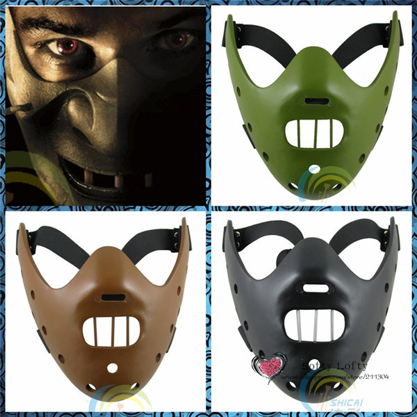 US $42 0 |Free Shipping Scary Masks The Psycho Killer Silent Masks Toys  Halloween Costumes lamb cannibal Horror Movie Prank Joke Gifts-in Gags &
