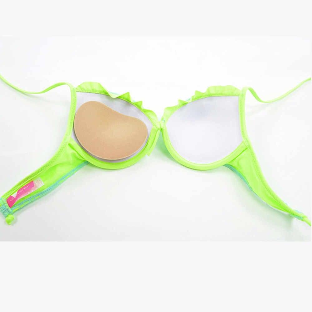 2019 Phụ Nữ Bikini Push Up Silicon Đệm Đầm Dày Hơn Dính Thoáng Khí Bọt Biển Miếng Nối Áo Ngực Vô Hình Pasties Cover Padding