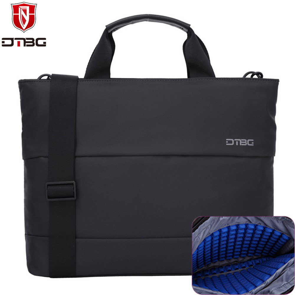 2017 DTBG Shockproof Laptop Handbag 13 13.3 15.6 Inch Airbag Computer Bag Briefcase for Men Women Nylon Messenger Travel Bags