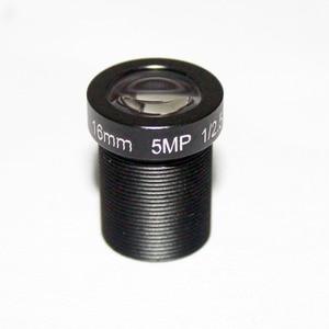 """Image 2 - HD 5mp 16mm objektiv cctv objektiv IR Bord 1/2. 5 """"M12x0.5 view 50 mt für Sicherheit IP kamera"""