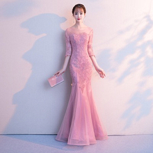 цена High-end Fashion Dress Female 2019 New Banquet Elegant Elegant Long Fishtail Sexy Temperament Lady Dress онлайн в 2017 году