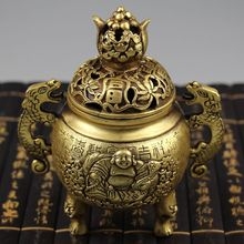 Archaize home brass creative aromatherapy smoked furnace at the bedroom Buddha incense burner