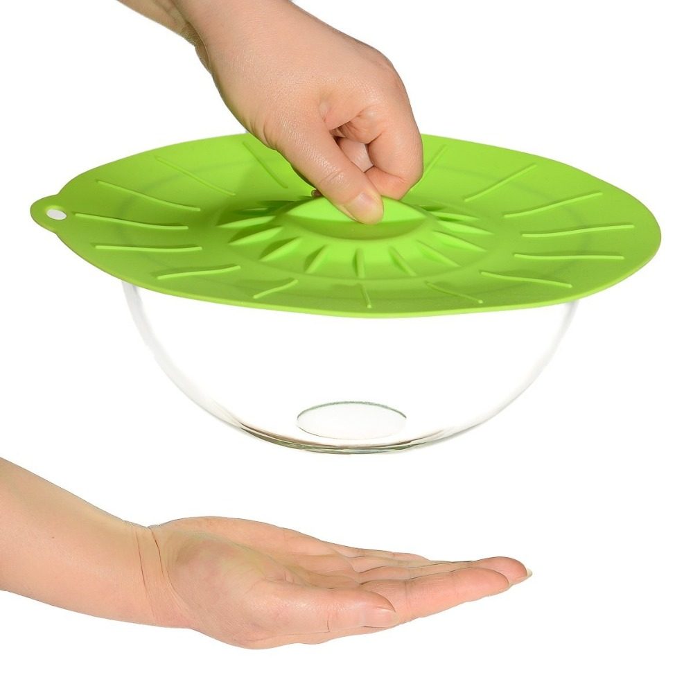 Set Of 5 Silicone Cover Cooking Pot Lid Microwave Bowl Pan