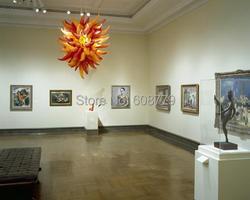 Darmowa wysyłka strona dekoracji szkło murano żyrandol w kształcie kuli