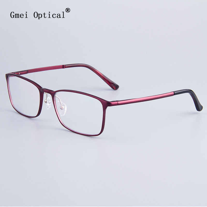 Fashion Full-Rim Eyeglasses Frame Brand Designer Business Men Frame Hydronalium Glasses With Spring Hinge On Legs GF521