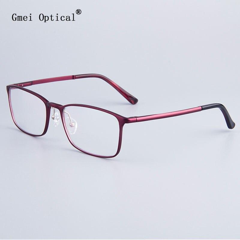 Fashion Full-Rim Eyeglasses Frame Brand Designer Business Men Frame Hydronalium Glasses With Spring Hinge On Legs GF521
