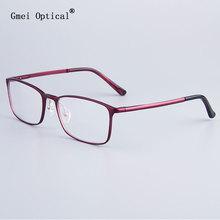Fashion Full-Rim Eyeglasses Frame Brand Designer Business Men Frame Hydronalium Glasses With Spring Hinge On Legs