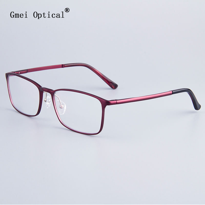 fashion full rim eyeglasses frame brand designer business men frame hydronalium glasses with spring hinge