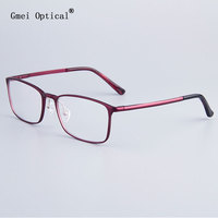 Fashion Full Rim Eyeglasses Frames Brand Designer Business Men Frame Women Hydronalium Glasses Frames With Spring