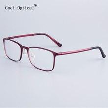 Moda pełna obręczy okulary rama marka projektant biznes mężczyźni rama hydranalium okulary z zawias sprężynowy na nogi GF521
