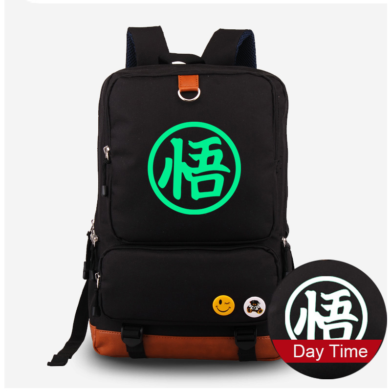 New Arrival Dragon Ball Z Goku Cosplay Canvas Backpack Fluorescent Schoolbag Cartoon Luminous Computer Laptop BagNew Arrival Dragon Ball Z Goku Cosplay Canvas Backpack Fluorescent Schoolbag Cartoon Luminous Computer Laptop Bag