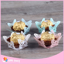 Buy wedding decoration and get free shipping on aliexpress 50pcs laser cut butterfly chocolate bar chocolate wrappers birthday party decoration kids wedding decorationchina junglespirit Image collections