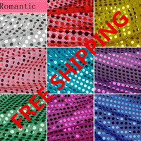 6mm Sequin Paillete Shiny Sparkly Material Nylon Polyester Fabric Fancy Dress Wedding Hotel Events Wall Background