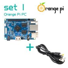 Turuncu Pi PC + güç kablosu, desteklenen Android, Ubuntu, Debian Mini tek kartlı