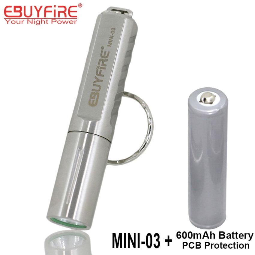 EBUYFIRE Mini-03 XPG R5 LED Süper El Feneri 10400 Torch Anahtarlık PCB Korumalı Şarj Edilebilir 10440 pil ile LED Işık