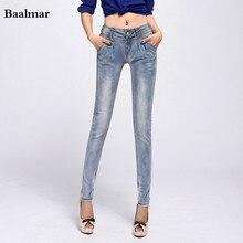 Jeans Femme Fashion Brand Women Skinny Pencil Jeans Denim Elastic Pants Washing Color Good Quality Woman Casual Jean Pants