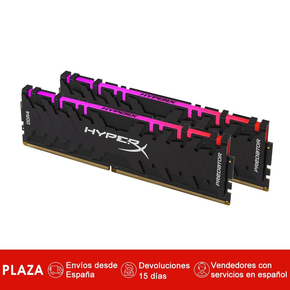 HyperX prédateur 16 GB 2933 MHz DDR4 RGB, 16 GB, 2x8 GB, Negro