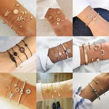 9 Styles Dream Catcher Bracelets For Women Vintage Rhinestone Bangles Leaves Flowers Creative Design Bangle Geometric