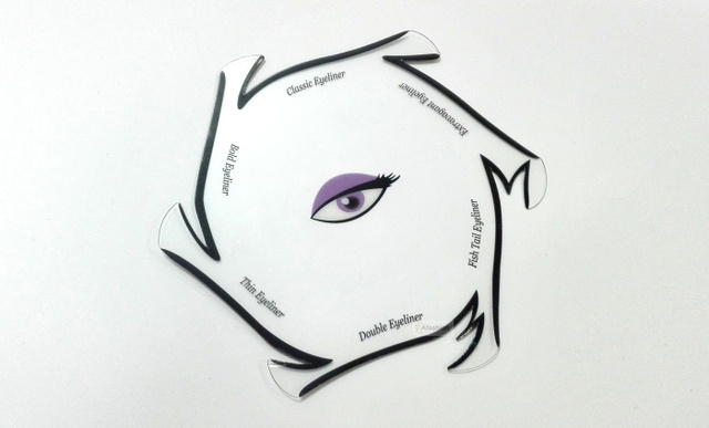 1pc Spiral style eyeliner stencil kit 6 model for eyebrows guide template maquiagem eye makeup drawing a diy card 1