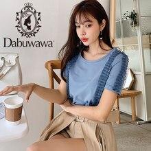 ลูกไม้สีขาว/สีดำ/สีฟ้า Tee 2019 Dabuwawa