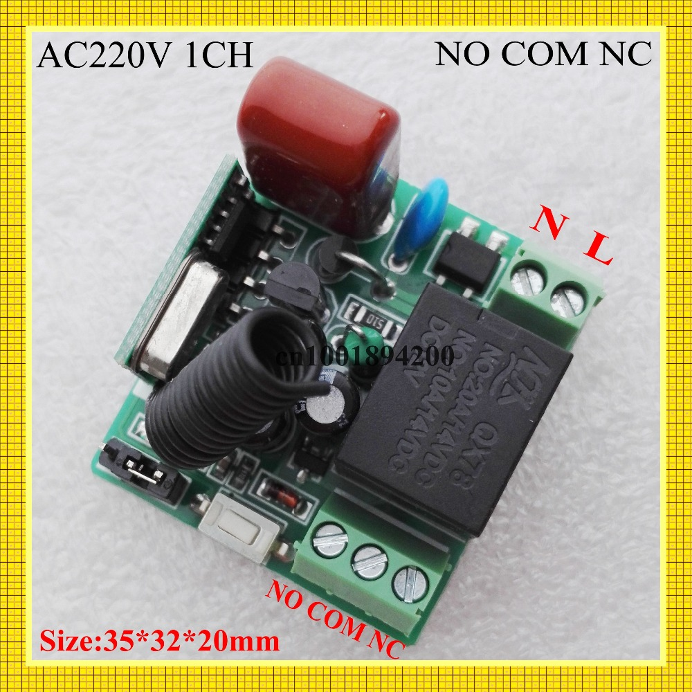 Ac 220v 1 Way Relay Wireless Switch 315 433 Normally Open Closed Rf Receiver Contact Smart Home Remote Controller Mini Siz In Switches From Lights
