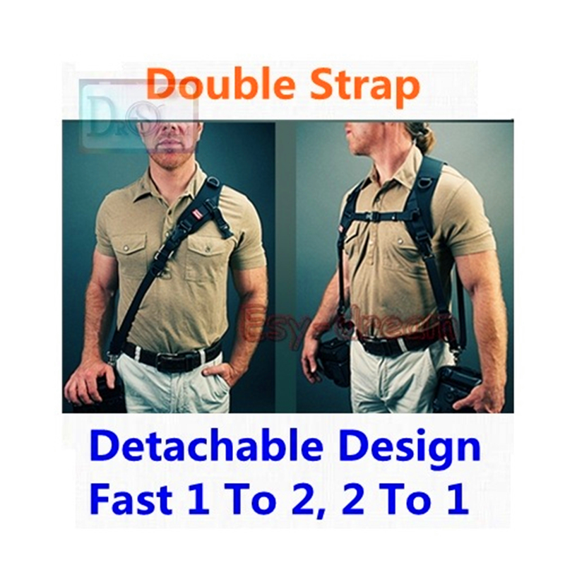 Carry Speed Detachable Design Quick Pro Double Dual Shoulder Strap For Two Cameras DSLR Carryspeed universal quick shoulder strap for slr dslr cameras grey