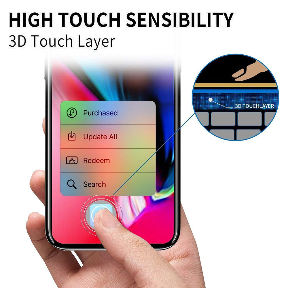Ascromy For Apple iPhone XS Max Premium 9H Tempered Glass Screen Protector For iPhone X S XR 8 7 Plus 6 6S 8plus Protection Film (5)