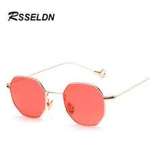 RSSELDN New 2017 Fashion Hexagon Sunglasses Women Men Brand Designer Sun Glasses For Women Lady Sunglass Female Mirror UV400