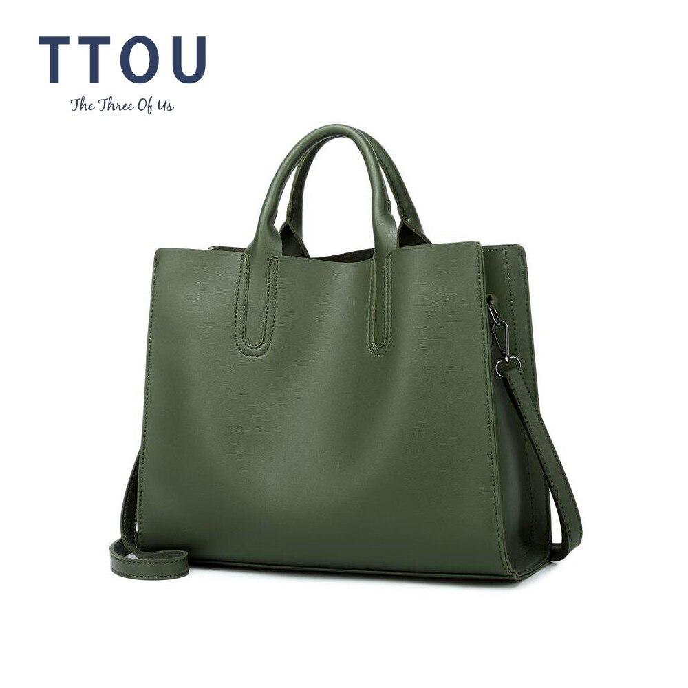 f35ffb981553 TTOU большая емкость женская сумка багажник Топ-ручка сумка Классическая из искусственной  кожи сумка на