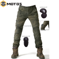 ZS MOTOS NEW 2016 MOTORPOOL UBS06 Army Green Slacks jeans Motorcycle ride jeans Leisure Loose Version with protect equipment