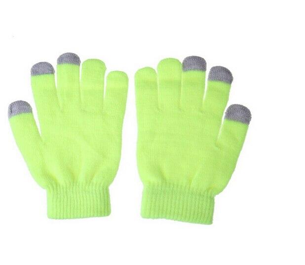 Imc Для женщин Для мужчин Сенсорный экран Мягкий хлопок Зимние перчатки теплые Прихватки для мангала для смартфонов