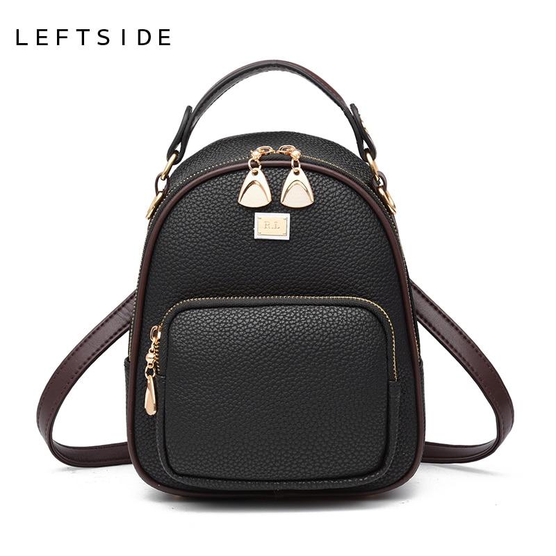 LEFTSIDE School Bagpacks For Women Summer Pu Leather Backpacks Mini Student Backpack Preppy Fashion Back Pack 2018 Drop Ship