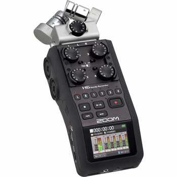 Zoom H6 portable professional handheld digital recorder H4N upgraded section Handy 6-Track for interview X/Y Side Mic