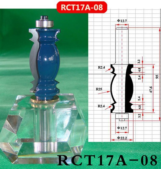 Industry Quality Carbide Wood Working Line Shape Molding Router Cutter Bits V Groove ( RCT17A-08 )  цены