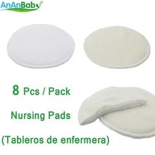 Ananbaby Hotsale Washable Reusable Feeding Pad Super Absorbency Nursing Pad 8pcs/Lot