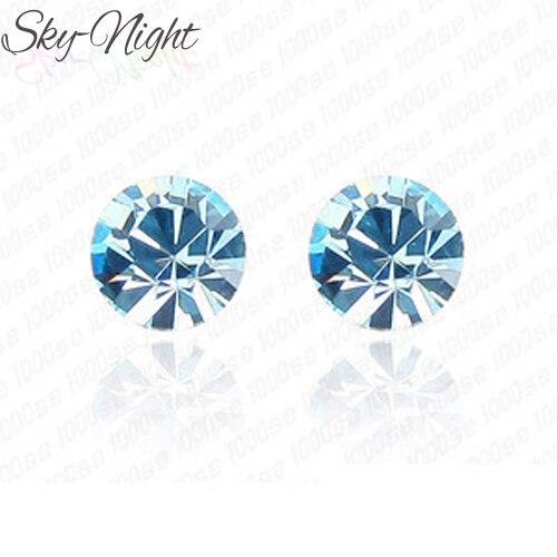 Brincos Fashion Little Personality Crystal Cute Simple Stud Earrings For Women Cheap Earrings men women Jewelry Accessories