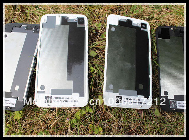 High quality back glass battery housing door cover replacement parts  for iphone4G 4S cdma Black White Color 100pcs