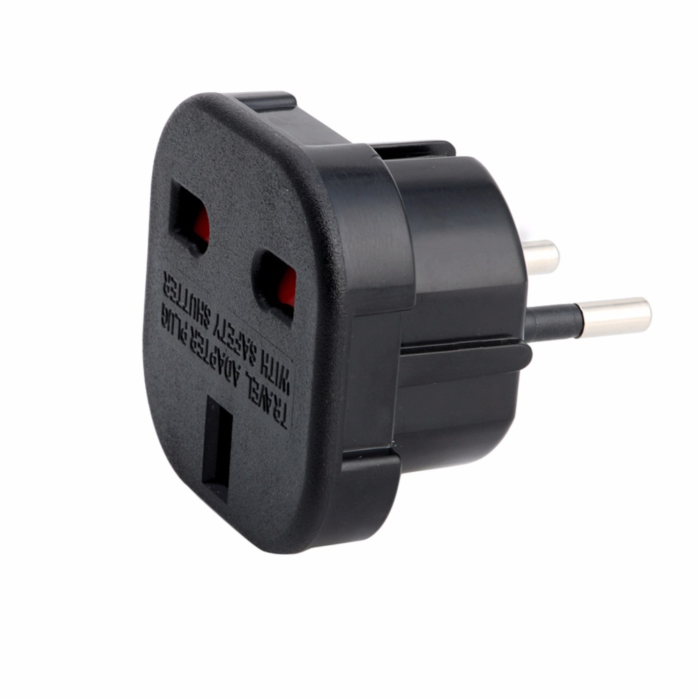 UK zu EU <font><b>2</b></font> <font><b>Pin</b></font> Euro Europa AC Travel Power <font><b>Adapter</b></font> Stecker Buchse <font><b>Adapter</b></font> Convertor-M40 image