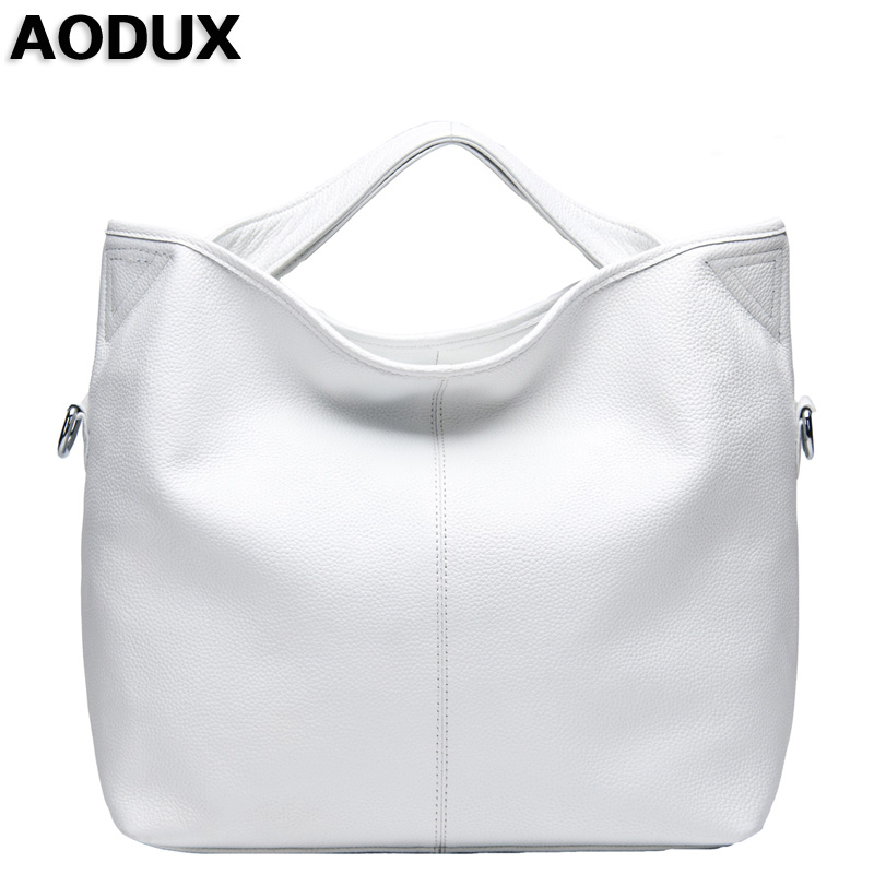 AODUX Ladies 100% Genuine Leather Women's Bag Female First Layer Cowhide Handbags Real Leather Tote Messenger Crossbody Bags qiaobao 100% genuine leather women s messenger bags first layer of cowhide crossbody bags female designer shoulder tote bag