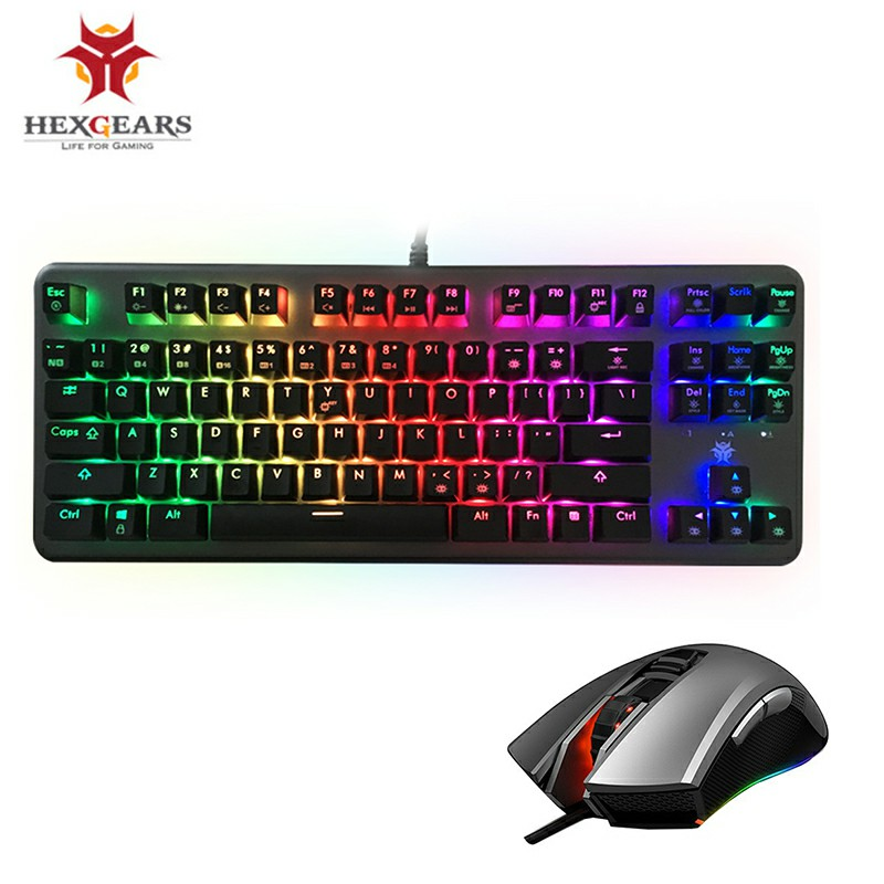 HEXGEARS GK757 Keyboard Mouse Combo PC Gamer Mechanical Keyboard with Backlight RGB Macro Mice Mouse Gamer Keyboard Mouse Combo