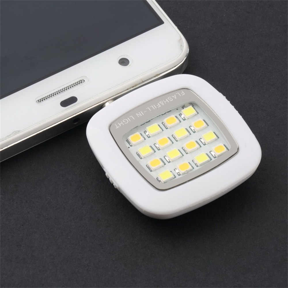 save off 69d0f d8830 2019 NEW External Rechargeable 16 Selfie Flash LED Camera Lamp Light For  iPhone 6 6s Samsung HTC Xiaomi mobile Phones Cellphone