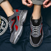 QWEDF 2019 Stylish casual designer shoes men red sneakers black white walking shoes breathable mesh sneakers men shoes G4 27