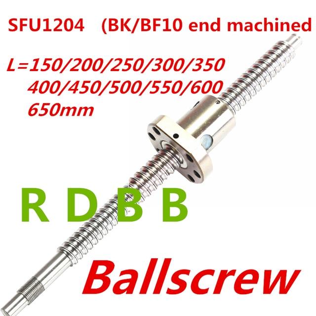SFU1204 150 200 250 300 350 400 450 500 550 600 650 ミリメートルC7 ボールねじ 1204 フランジシングルボールナットbk/BF10 機械加工終了